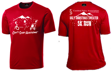 Ugly Christmas Sweater Run shirt images